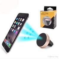 Wholesale Car Phone Mount Wholesale - Car Mount Air Vent Magnetic Universal Mobile Phone Holder For Samsung Galaxy S7 S6 With Retail Package