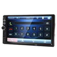 reproductor de mp3 al por mayor-Al por mayor-Coche 7018B 2 DIN 7 pulgadas de audio Bluetooth en pantalla táctil del tablero de radio del coche Car Audio estéreo MP3 MP5 Player Soporte USB para SD / MMC