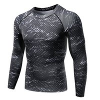 Wholesale Long Body T Shirts Men - Wholesale- Mens Long Sleeve Body Armour Compression T-Shirts Thermal Under Top Casual Mens bodybuilding Fitness Tops Skin Shirt S3