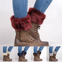 Wholesale Furry Socks - Wholesale- HOT! Women's Autumn Winter Fashion Furry Ribbed Boot Cuffs Boot Toppers Leg Warmers