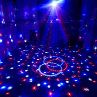 Wholesale Crystal Wedding Lamps - 360 Degree Rotating Crystal Ball Stage Lighting 110-240V Voltage LED RGB Rotating Lamp For Party Wedding Family Birthday Party Disco DJ