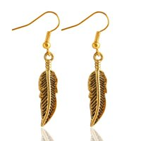 Fashion Simple Bohemian Long Earrings Unique Vintage Gold Silver Leaf Big Earrings Pour Femmes Fine Jewelry Gift