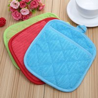 Wholesale Cup Mat Free Shipping - Microfiber Dish Drying Mat Cup pads 17x23cm Tableware Mats Heat insulation 3 COLORS Creative Casual Pad Free Shipping