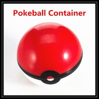 Wholesale Sticks Glasses - Non-Stick Pokeball Container Wax Jars Food Grade Silicone Gel Ball Pattern Storage Box For Herbal Vaporizer Glass Bong Accessories DHL Free
