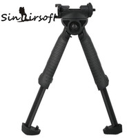 Sinairsoft Defence Bipod Unmarking T-POD-G2 Rotating Tactical Foregrip Vertical Bipod Noir Pour Hunting Rifle Munts W / Weaver Picatinny Rail