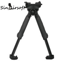 Wholesale t pod foregrip resale online - Sinairsoft Defense Bipod Unmarking T POD G2 Rotating Tactical Foregrip Vertical Bipod Black For Hunting Rifle Munts W Weaver Picatinny Rail