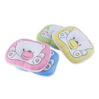 Wholesale Newborn Head Support Pillow - Bear Pattern Pillow Newborn Infant Baby Support Cushion Pad Prevent Flat Head Hot Selling