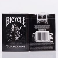 Wholesale Decks Bicycles - 1deck Bicycle Guardians Playing Cards By Theory11 Black Magic Cardistry Deck Guardian magic trick Playing Card 83077