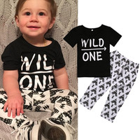 Wholesale Sleeveless Shirts Toddler Boys - Baby boy clothes 2017 Brand summer kids clothing sets t-shirt+pants suit 2pcs Outfits Letter Printed Newborn Infant Toddlers sport playsuit