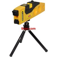 Wholesale vertical horizon - Free Shipping Portable Multipurpose Horizon Vertical Laser Spirit Level Measure & Dot Switch with rotary tripod stand Magnetic