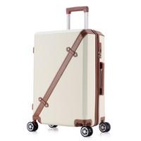 chariot à valises 24 pouces achat en gros de-20 24 pouces bagages roulants affaires voyage sports 4 roues valises sac étanche haute qualité rétro valise trolley grande capacité