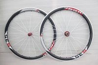 Wholesale Carbon Bike Wheel Sram Hub - sram s35 white red sticker 38mm road bike wheels with alloy brake surface carbon wheelset R36 hubs carbon fiber clincher wheelset 10 11speed