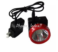 Wholesale Led Miners Cap Lamp - Free Shipping LD-4625 LED Miner Safety Cap Lamp LED Mining Light High Safety with Car Charger