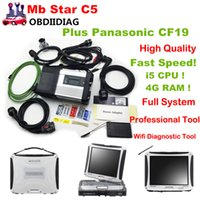 2017.5V Nueva generación de MB SD Conectar C5 Star Diagnóstico Plus Panasonic CF19 I5 4GB Laptop Software instalado Listo para usar mb star c5