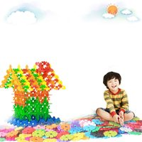 new kids blocks 2018 - New 120Pcs Kids Baby Educational Toys Snowflake Creative Building Blocks DIY Toy