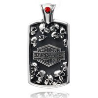 Wholesale Ghost Jewelry - Europe and the characteristics of men's jewelry Harley ghost Club Europe fashion retro male imitation silver titanium tag