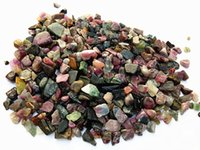 5mm-15mm Irregular Crushed Tourmaline Chip Gravels, pietre grezze piccole, Fish Tank Acquario Terrarium Decorazione, regalo per la casa Decor