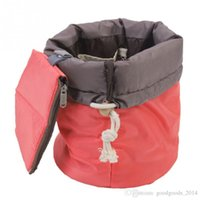 Wholesale Elegant Drawstring Women Bags - Hot Sale Barrel Shaped Travel Cosmetic Bag Nylon High Capacity Drawstring Elegant Drum Wash Bags Makeup Organizer Storage Bag ak055