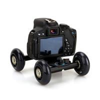 Wholesale Dolly Kit Skater Wheel Truck - Desktop Dolly Slider DSLR Truck Slider Skater Wheel Table Kit Dslr Dolly Camera Car For Video Camera DSLR Accessories