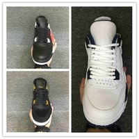 Wholesale Running Shoes Air Men S - 2017 air retro 4 Basketball Shoes men retro 4s Pure Money Royalty White Cement Premium Black Bred Fire Red Sports Sneakers s