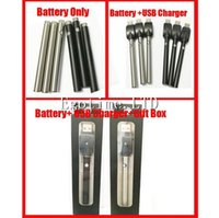 Wholesale Battery Capacity Charger - DHL Bud touch vape pen manual battery with USB Charger 510 thread 280mah capacity button oil o pen vape e cigarette ce3 battery