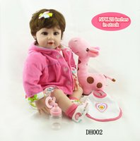 "Wholesale Realistic Love Dolls Toys - New 20 ""Loves Realistic Live Baby Girl Toddler Baby Doll Toddler Silicone Girl Realistic Baby Doll Reborn Toys for Kids Gifts"