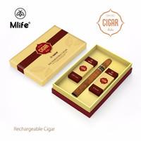 Wholesale E Liquid Cigar - Original Mlife Cigar Starter Kits Vape pens Rechargeable E cig 900mAh Battery 1.3ml E-liquid Tank Evaporators Vaporizer Amazing Design