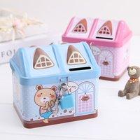 Wholesale Tin Piggy Banks - Creative cartoon tin piggy bank, Yiwu factory wholesale, Korean version, student gift, money box, children's Day gift