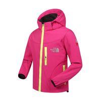 Wholesale Wholesale Outdoor Jackets - The kids Jacket North Children Face Soft Jackets coat waterproof outdoor sports autumn wind stopper child tops Hoodie Hoody sweatshirts