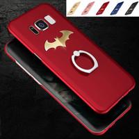 Wholesale Batman Logo Hard Case - For Samsung Galaxy S8 Plus S8+ Case Gold Batman LOGO Phone Case With KickStand for Samsung S7 S6 edge Note5 Hard PC Cover