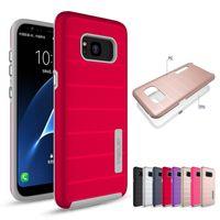 Wholesale Shock Defender - Amor Case For Samsung Galaxy S8 S8Plus S7edge iPhone 7 7Plus TPU+PC 2in1 Hybrid Anti-shock Defender Case