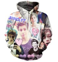 Wholesale Newest Style Mens Hoodies - Newest Fashion Womens Mens Luke Hemmings 5Sos Harajuku Style Funny 3D Print Casual Hoodies Unisex Plus Size KK56
