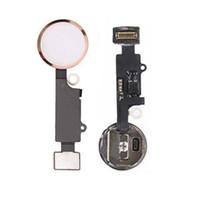 casquettes apple achat en gros de-Nouvelle clé de bouton d'accueil pour iPhone 7 7G Bouton de maison Flex Cable + Key Cap Assembly livraison gratuite
