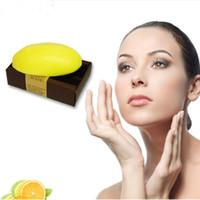 Wholesale whitening beauty soap - 130g Lemon Handmade Soap Whitening Bath Shower Soap Body Skin Health Care Cleanning Beauty Life Fragrance Soap Gift