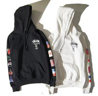 Wholesale Clothes Fashion Flag - .KANYE WEST National flag hip hop men women fleece hoody hoodies justin bieber purpose tour thrrasher off white Clothing ..