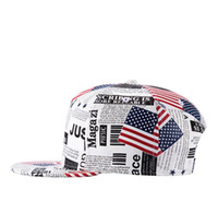 Wholesale Wholesale American Flag Hats - Climate New American President USA flag Newspaper Trump PU Snapback Cap Baseaball Hat For Men Women Sport Hip Hop Bone Sun Cap TOP1473ZW