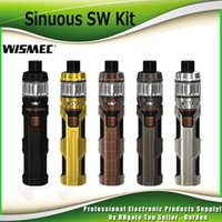 Wholesale Starter Kit Mah - Original Wismec Sinuous SW Starter Kits 50W Mod Built-in 3000 mAh Battery 2ml 4ml Elabo SW Tank Atomizer Designed Kit 100% Genuine 2235035
