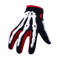 Wholesale Skeleton Full Finger Gloves - 3 Color Motorcycle gloves full finger knight riding skeleton hand Gloves 3D Sports Ghost Skeleton skull Bone Gloves