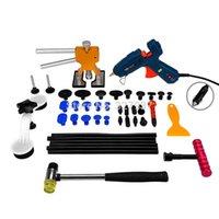 Wholesale Pdr Glue Puller Kit - PDR Tools Paintless Dent Repair Tools Car Hail Damage Repair Tool Hot Melt Glue Sticks Glue Gun Puller Tabs Kit Ferramentas