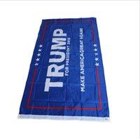 ingrosso 3x5 poliestere bandiera americana-Poliestere NOVITÀ 3x5 Ft Donald Trump Flag 2016 Rendi l'America di nuovo eccezionale Donald per il presidente USA Bandiera delle elezioni presidenziali americane