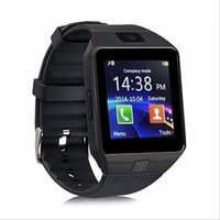 Wholesale Phone Answering System - DZ09 smart watch latest card Bluetooth support Android Apple system, watch mobile phone Android smart mobile phone watch (Black)