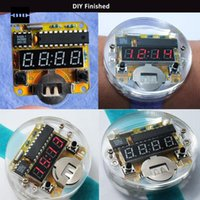 4 Bits Digital Tube DIY Kit LED Reloj Digital Reloj Electrónico Kit Microcontrolador MCU Diy Reloj Red LED Display
