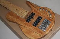 Wholesale fodera basses resale online - Custom Fodera Strings Natrual Electric Bass Guitar Neck thru body Active Pickups Maple Neck Abalone Dot Inlay
