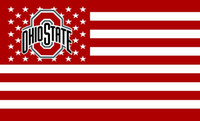 Wholesale Flying Banners - Ohio State Buckeyes Flag with Star and Stripe 3x5 FT Banner 100D Polyester Flying Flag US Brass Grommets free shipping 1201