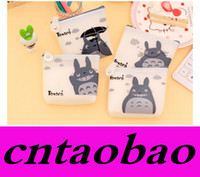Wholesale Silicone Purse Coin Card Holder - Men & Women Cute Cartoon Coin Purse Wallet My Neighbor Totoro Silicone Jelly Keychain Bag Transparent Card Holder