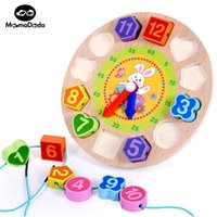 Wholesale Bead Educational - Wholesale- Wooden Math Toys Montessori Material Digital Clock Bead Educational Toys For Children Teaching Aid Learning Montessori Baby Toy