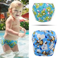Wholesale Swimsuits For Baby Cartoons - Reusable Swim Diaper 2016 Fashion Baby Swimwear Girls Toddler Diaper Cartoon Diapers for Swimming Brand Designer Baby Swimsuit