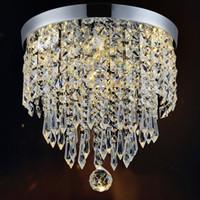 lustres de cristal au plafond moderne achat en gros de-Lustre moderne Plafonnier Crystal Ball Fixture Pendentif Plafond Aisle Porche Lampe Chambre à coucher Salon Plafond Balcon Lumières