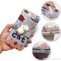 Wholesale Cat Cell Case - New Good Quality 3D Silicone Cell Phone Case For Iphone 6 6S 7 Plus Silicone 3D Cat Case OPP BAG