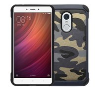 Wholesale Mobile Phone For Army - Hybrid Dual Layer Shockproof Camo Army Armor Hard Camouflage Case For Xiaomi Redmi Note 4 3 2 Mi5 Mi4 Cover Mobile Phone Cases